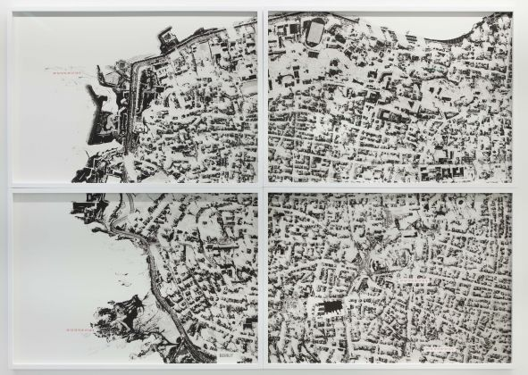 Ali Cherri, Paysages tremblants (Erbil), 2014, Lithographic Print and Archival Ink Stamp, 40 x 60 cm, Edition of 7 + 2 AP, courtesy of the artist and Galerie Imane Farès