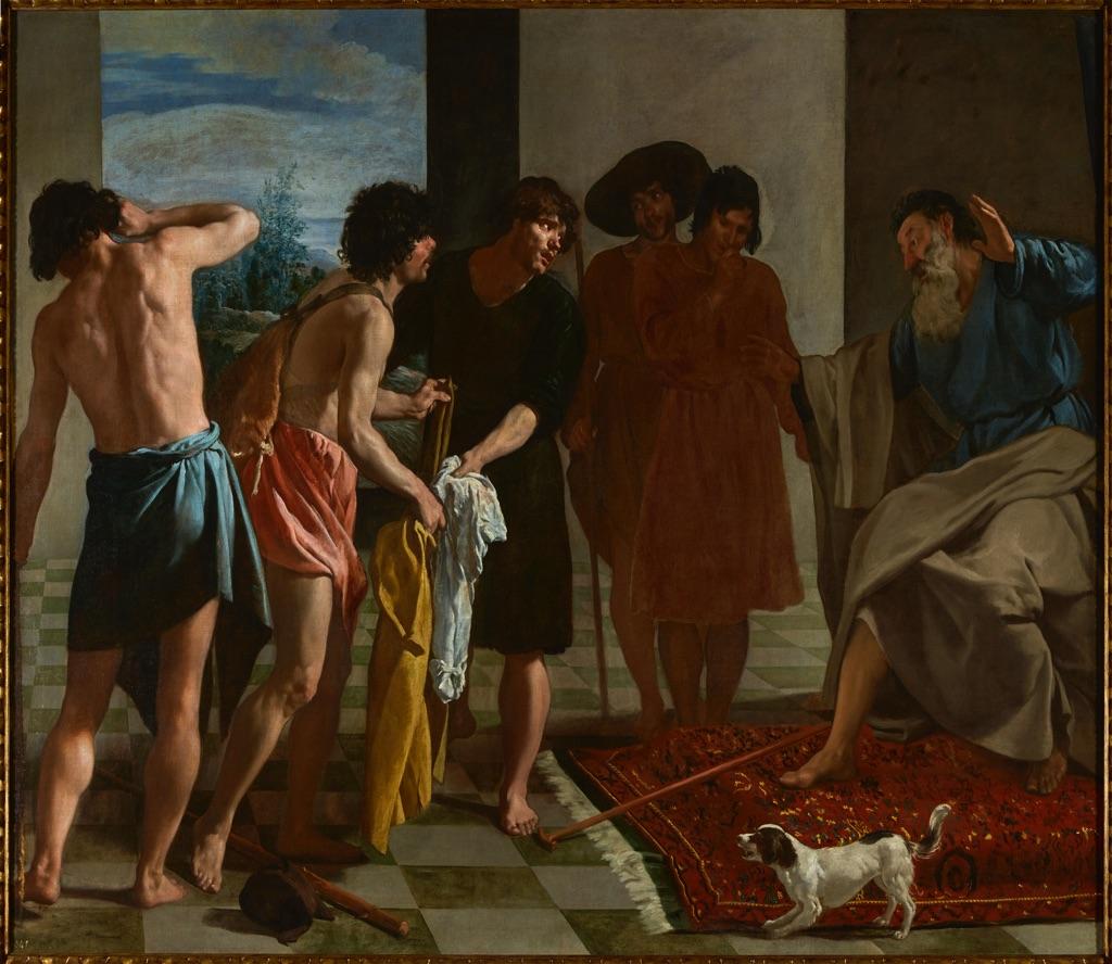 Diego Velázquez, La tunica di Giuseppe, 1630 - Monastero dell'Escorial, Madrid