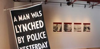 Dread Scott, A Man Was Lynched By Police Yesterday