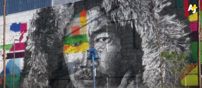 Eduardo Kobra, We Are All One, Rio de Janeiro, in progress