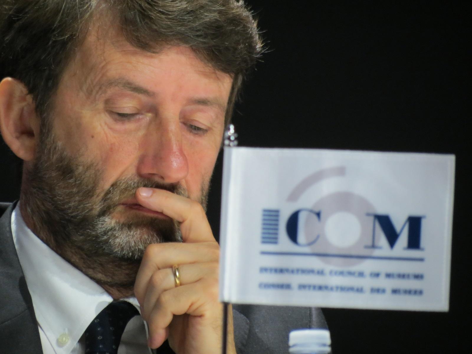 Il ministro Dario Franceschini, ICOM Milano 2016