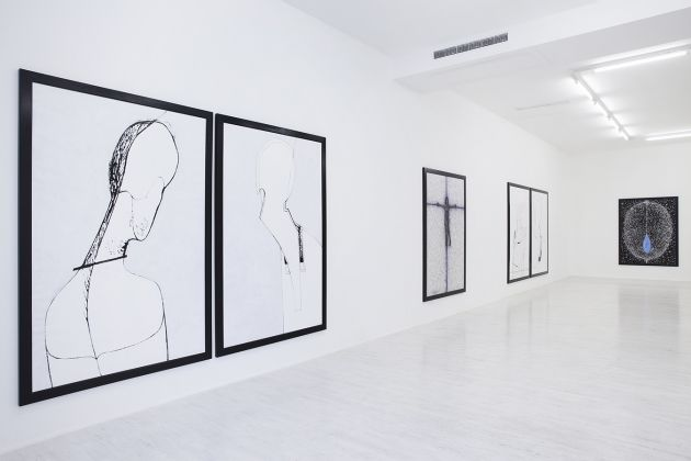 Klaus Rinke – The memories belong to me - installation view at Thomas Brambilla Gallery, Bergamo 2016