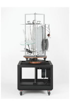 László Moholy-Nagy's 'Light Prop for an Electric Stage' (also known as 'Light-Space Modulator'; 1930, replica constructed 2006). PHOTO- PRESIDENT AND FELLOWS OF HARVARD COLLEGE