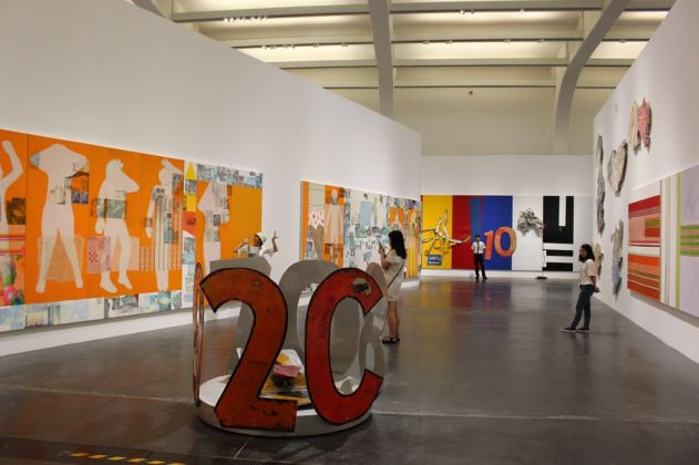 Robert Rauschenberg - The 1-4 Mile or 2 Furlong Piece - installation view at Ullens Centre for Contemporary Art, Beijing 2016