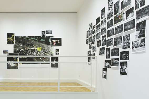 Sulla Nuova Fotografia Italiana - installation view at Viasaterna, Milano 2016