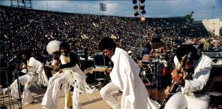 The Bar-Kays performing, courtesy of Wattstax