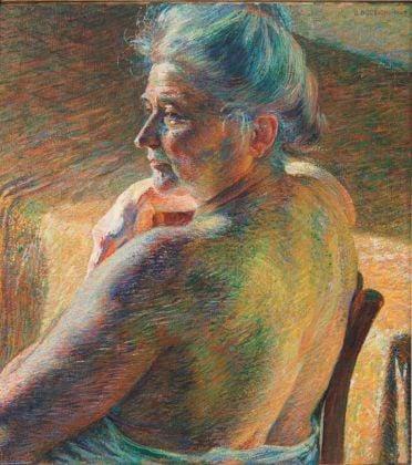 Umberto Boccioni, Nudo di spalle (Controluce), 1909 - Mart, Museo di arte moderna e contemporanea di Trento e Rovereto