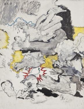 Valerio Adami,Alice nel paese della violenza, 1963, foto Filippo Armellin, Courtesy Fondazione Marconi, Milano