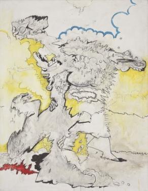 Valerio Adami,Le mani nel sacco, 1963, foto Filippo Armellin, Courtesy Fondazione Marconi, Milano
