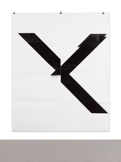 Wade Guyton, X Poster (Untitled, 2007, Epson Ultrachrome Inkjet on Linen, 84 x 69 In, Wg1999), 2015 @ Sotheby's