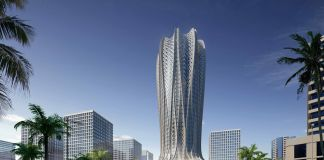 Zaha Hadid Architects, Lusail City, Doha, Qatar, render by Slashcube