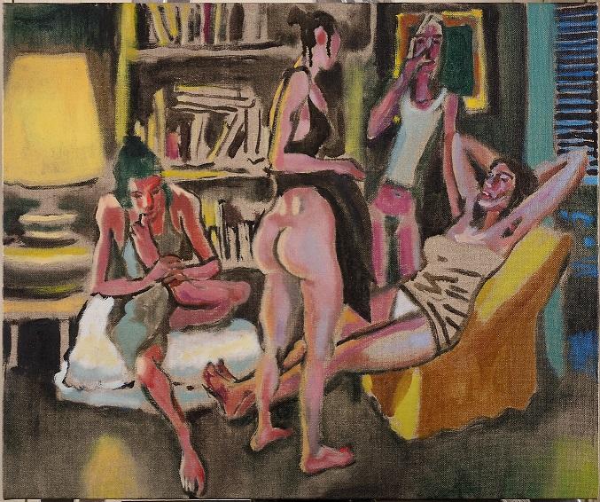 Alessandro Bazan, Ragazze schifosette, 2010 - olio su tela, cm 50x60