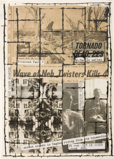 Brion Gysin, William S. Burroughs Untitled (Primrose Path, the Third Mind, p.12), 1965 Brion Gysin © Archives Galerie de France William S. Burrougs © 2016, The William S. Burrougs Trust. All rights reserved © Los Angeles Country Museum of Art, Los Angeles / dist. RMN- Grand Palais / service presse Centre Pompidou