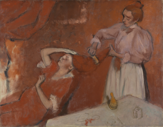 Edgar Degas, La Coiffure, 1896 ca. - The National Gallery, London