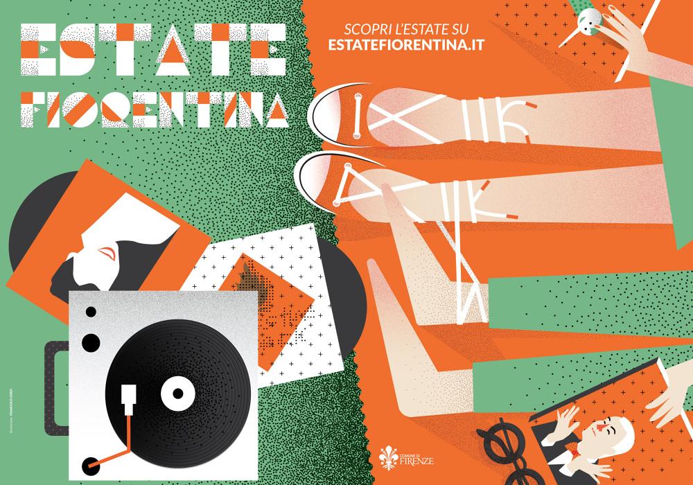 Estate Fiorentina 2016 - illustrazione di Francesco Zorzi