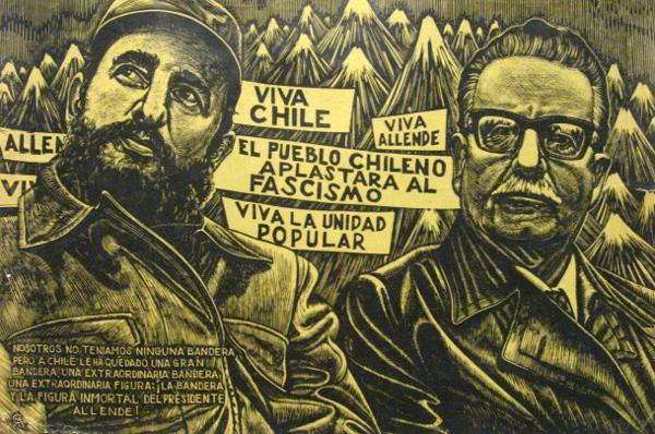 Fidel Castro e Salvador Allende, di Joaquin Crespo Manzano