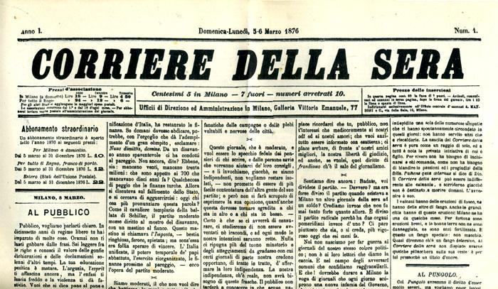 Il primo numero del Corriere della Sera