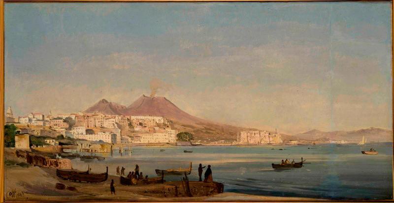 Ippolito Caffi, Napoli dalla Riviera di Chiaia, 1843, Fondazione Musei Civici di Venezia