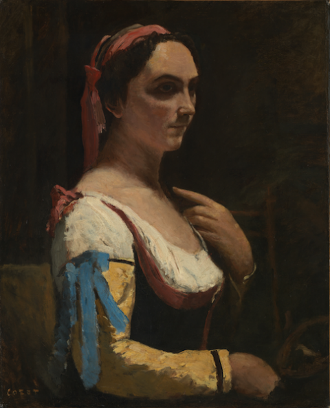 Jean-Baptiste-Camille Corot, L'Italienne, 1870 ca. - © The National Gallery, London