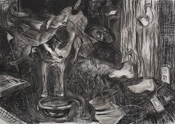 Laurie Anderson, Lolabelle in the Bardo April 19th, 2011, carbone su carta, 315x437 cm