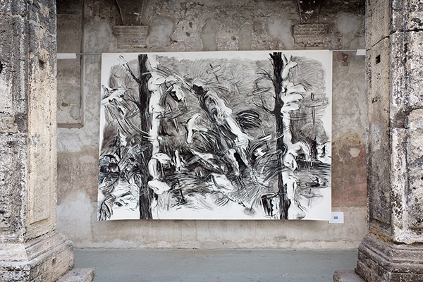 Laurie Anderson - The Withness of the Body - installation view at Made in Cloister, Napoli 2016 - courtesy l'artista - photo Sonia Ritondale