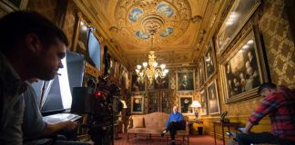 Le riprese di The Treasures of Chatsworth, con il Duca del Devonshire