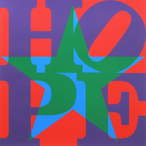 Robert Indiana, Star of HOPE (PurpleGreenBlueRed), 2013 - Courtesy by ContiniArt UK, Londra