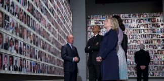 barack Obama Hillary Clinton 9/11 World Trade Center New York Memorial