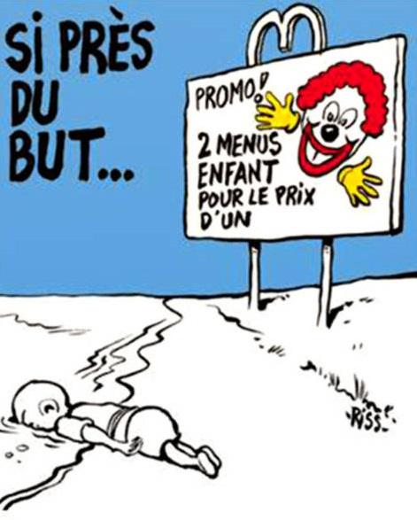 Charlie Hebdo, vignetta di Riss sulla morte d Aylan