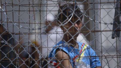 Hotspot di Moria a Lesbos, frame video Untitled