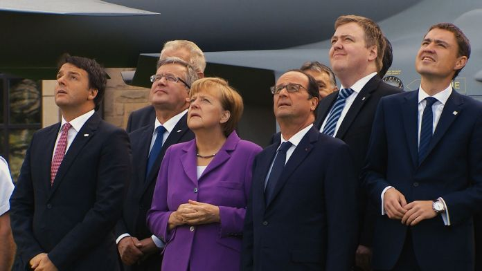 I leader europei al summit NATO del 2014 in Galles