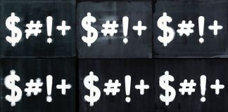 Mel Bochner, $#!+, 2015 - courtesy TOTAH Gallery