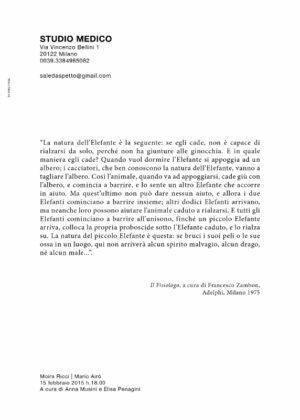 Moira Ricci e Mario Airò per il progetto Intervallo