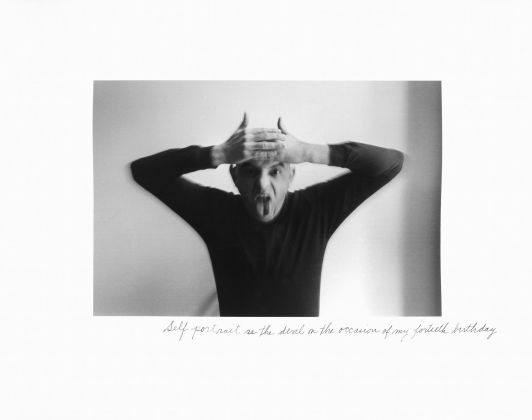 Self-portrait as a devil on the occasion of my fortieth birthday, 1972 © Duane Michals, Courtesy Admira, Milano