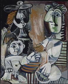 Pablo Picasso, La Famille, 30 septembre 1970, Mougins, huile sut roile, 162x130 cm, Musée national Picasso - Paris, © Succession Picasso by SIAE 2016