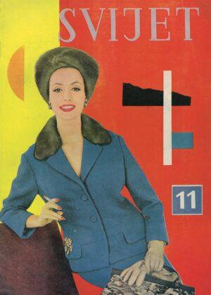 Aleksandar Srnec, Cover Design for Svijet Fashion Magazine No. 11, 1959 - Marinko Sudac Collection
