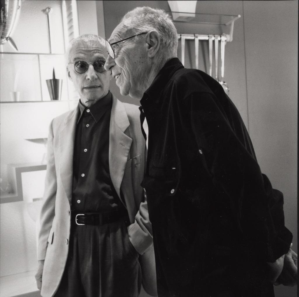Alessandro Mendini e Achille Castiglioni, Milano, 2003 - photo Ramak Fazel