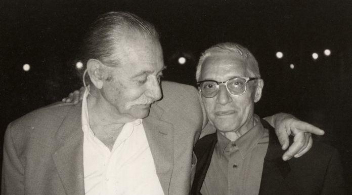 Alessandro Mendini e Ettore Sottsass jr, Venezia 1993 - photo Johanna Grawunder