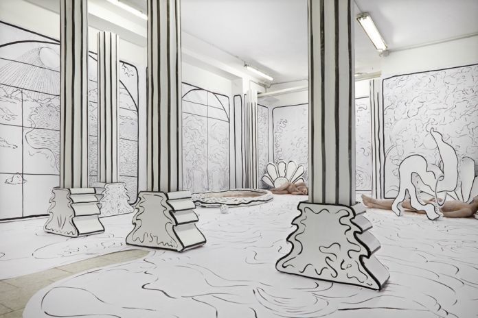 Benni Bosetto – Florida - exhibition view at Tile Project Space, Milano 2016 - photo Floriana Giacinti