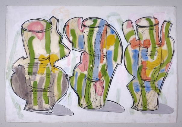 Betty Woodman, Summer Triptych, 2003 - courtesy Galleria Lorcan O'Neill, Roma