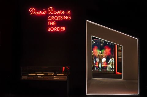 David Bowie is - exhibition view at MAMbo, Bologna 2016