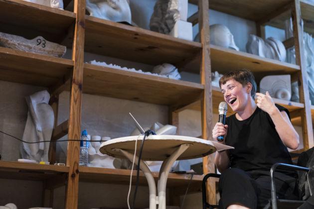 Emma Hart talk con Marinella Paderni, 13 ottobre 2016, Museo Carlo Zauli - photo © Andrea Piffari - courtesy Collezione Maramotti