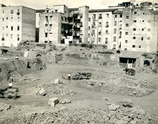Esther B. Van Deman, Viminal Hill, general view of excavations, Rome, 1913 - Photographic Archive, American Academy in Rome