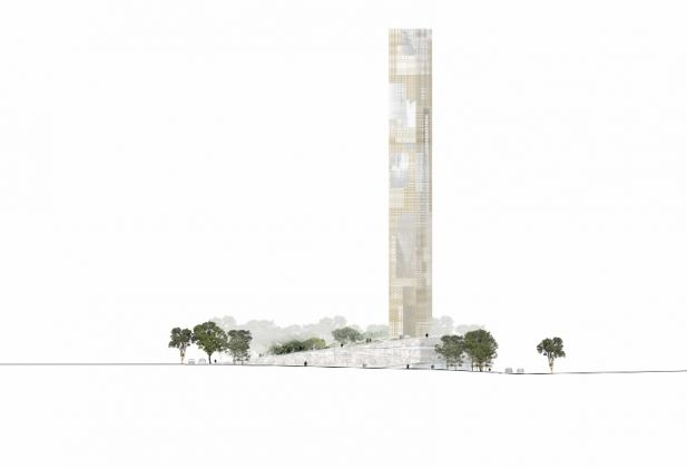 Il progetto del BeMA di Beirut - Courtesy of HW architecture and Beirut Museum of Art