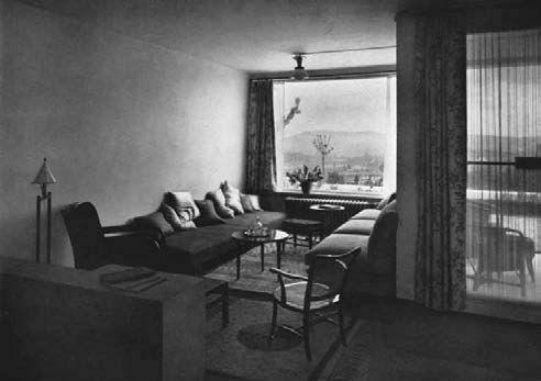 La living room disegnata da Josef Frank per il Weissenhofsiedlung, Stoccarda 1927