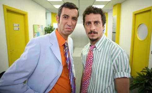 Luca Bizzarri (dx) e Paolo Kessisoglu (sx) in Camera Café