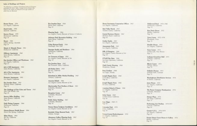 Perspecta 49 - Frank Gehry. Buildings and Projects, Rizzoli, New York 1985