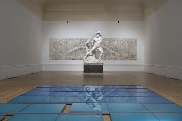 Roma, Galleria Nazionale d'Arte Moderna. Allestimento della mostra Time is out of joint. Foto Giorgio Benni