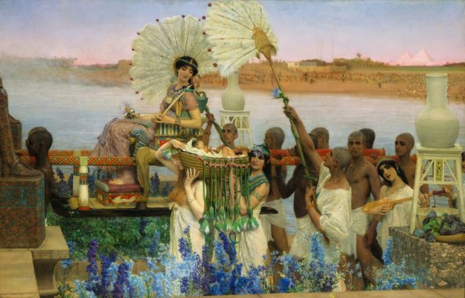 Sir Lawrence Alma-Tadema, The Finding of Moses, 1904, Private Collection, courtesy Christie's. Photo © 2016 Christie's Images Limited