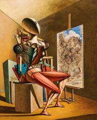 Giorgio de Chirico, Pittore paesaggista, anni 30, olio su tela, 100x80 cm
